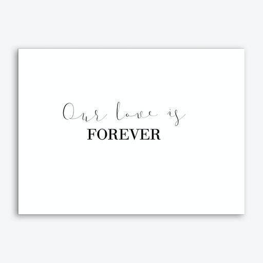 Our Love Is Forever Art Print