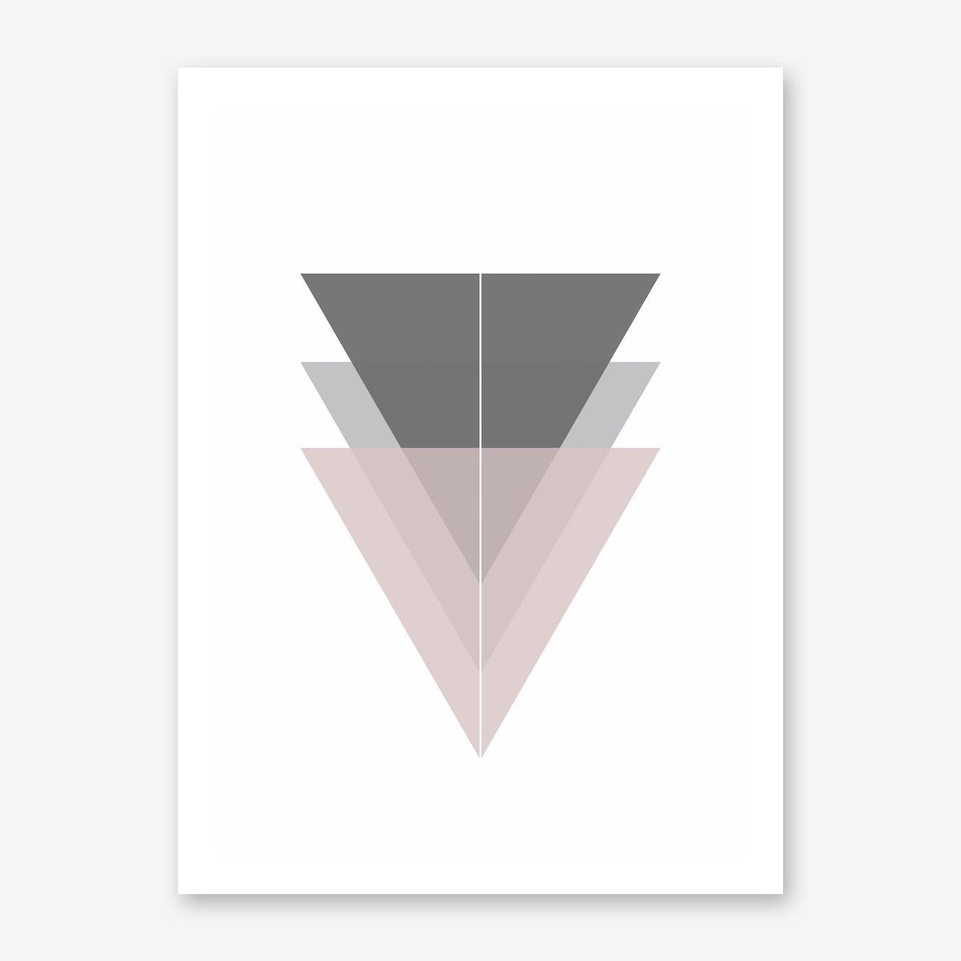 Pink and Grey Triangles