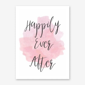 Happily Ever After Pink Art Print