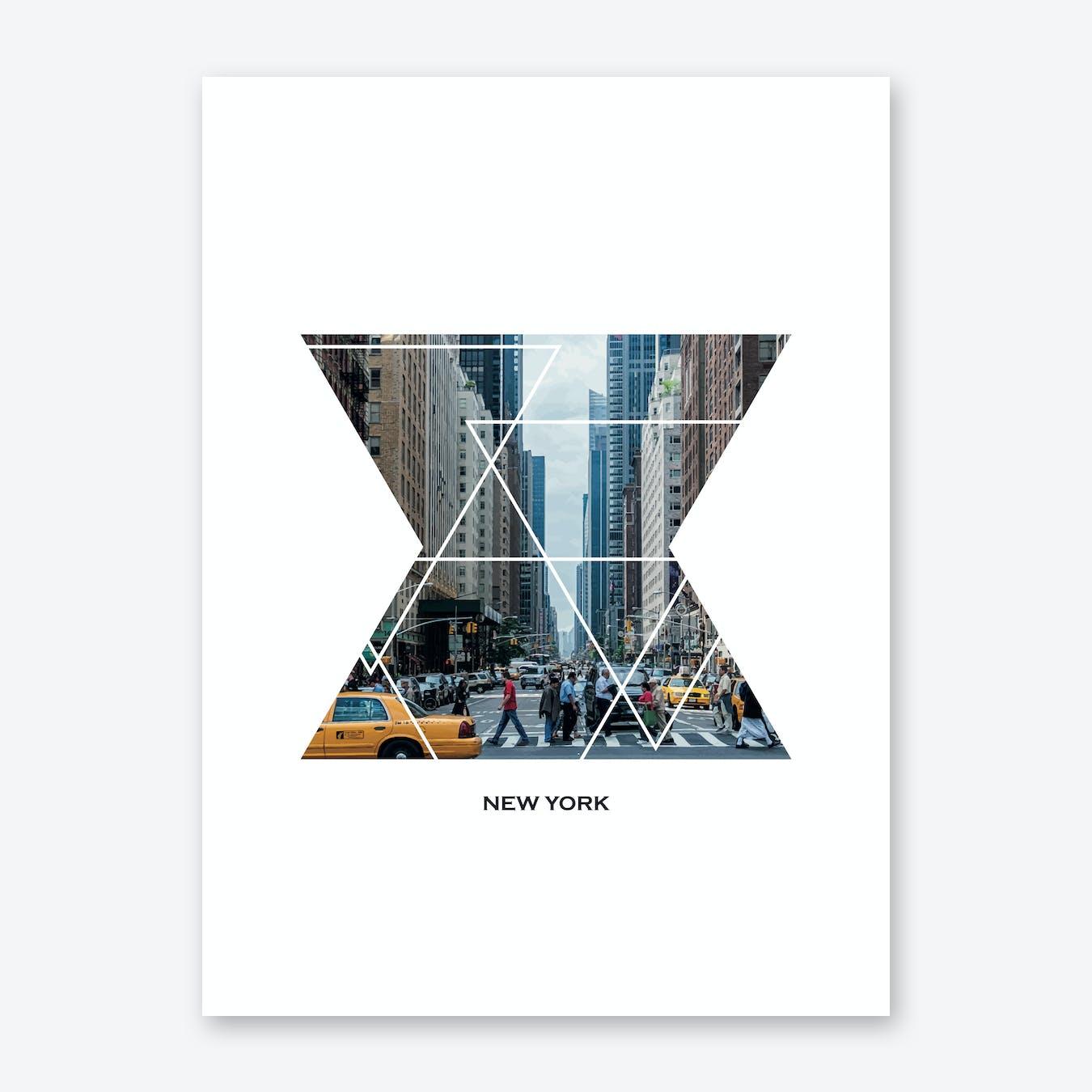 New York Geometric Print
