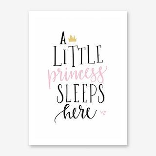 Little Princess Sleeps Here Art Print