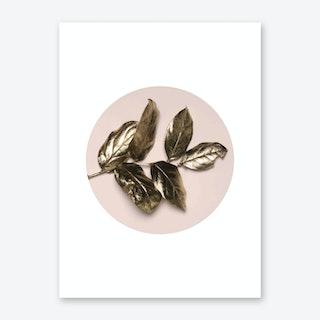 Rose Gold Leaf Art Print
