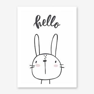 Hello Bunny Art Print