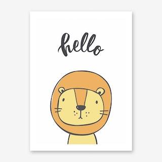 Hello Lion Art Print