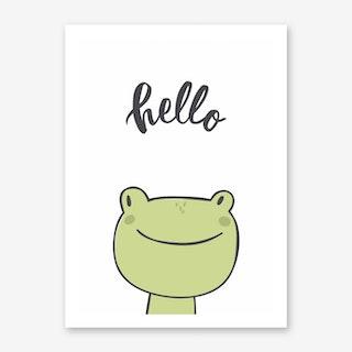 Hello Frog Art Print