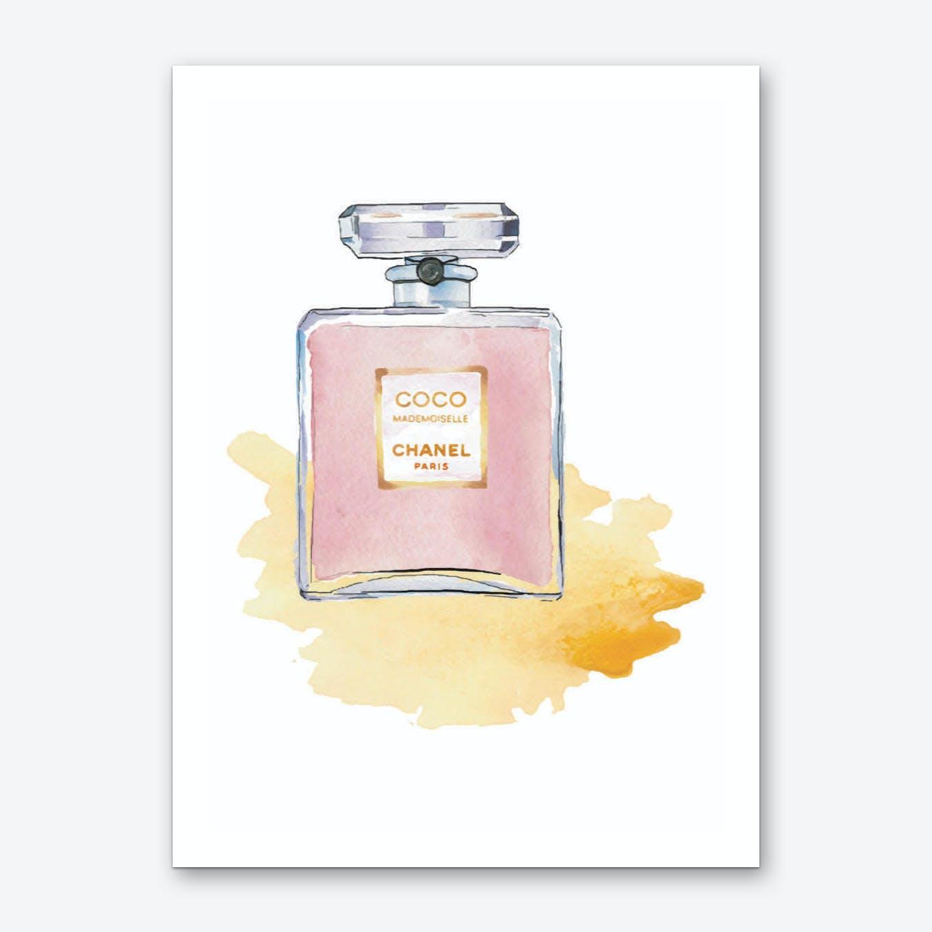 Pink Chanel Perfume Art Print