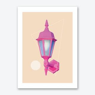 Pink Neon Lamp Art Print