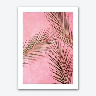 Pink Plants Art Print