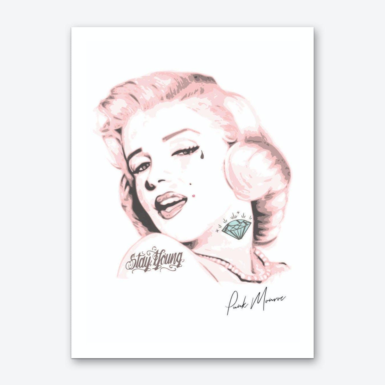 Pink Punk Monroe Art Print