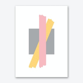 Pink and Orange Cross Over Box Art Print