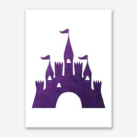 Purple Watercolour Castle Art Print