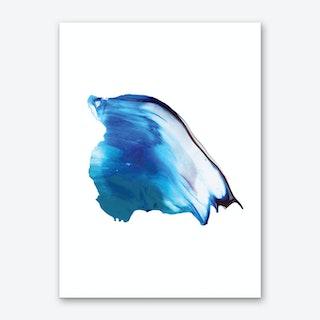Realistic Blue Paint Stroke Art Print