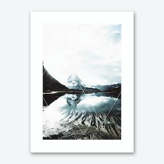 Snowy Mountains I Art Print