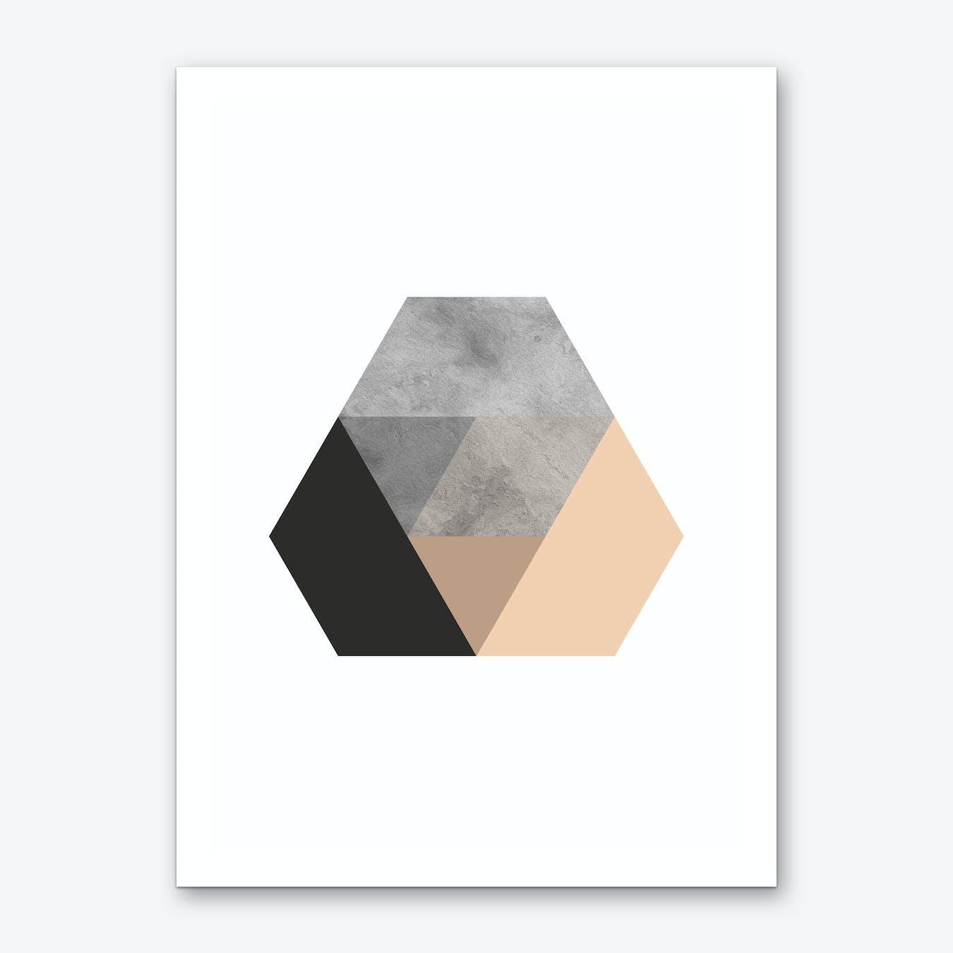 Stone Layered Abstract Art Print