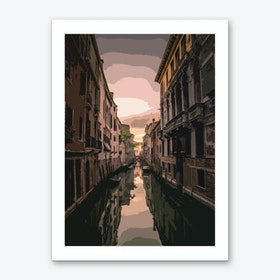 Sunset Venice Art Print