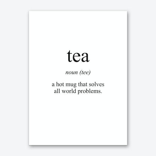 Tea Meaning Print Art Print