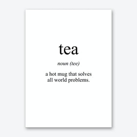 Tea Meaning Print Art Print