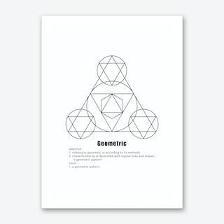 Three Points Geometric Meaning Art Print