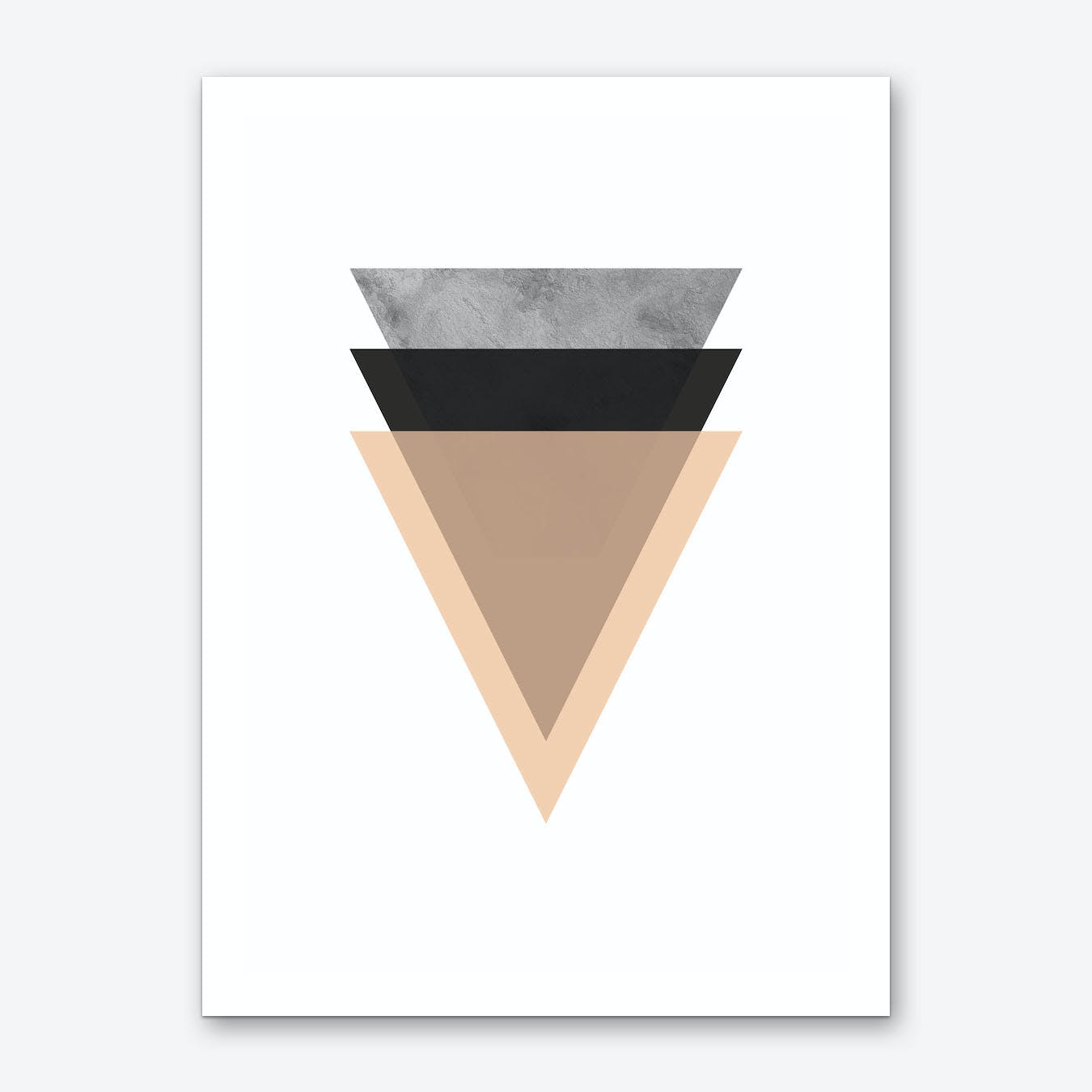 Triangle Stone Layered Abstract Art Print