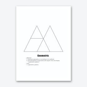 Two Triangles Geometric Meaning Art Print