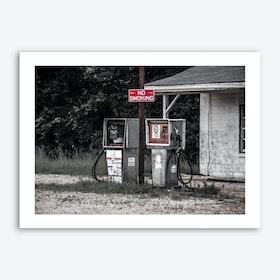 Vintage America Abandoned Gas Station Art Print