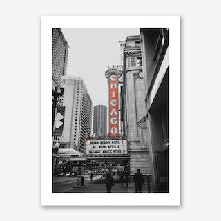 Vintage America Chicago Red Theatre Art Print