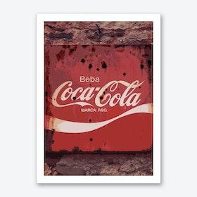 Vintage America Coca Cola Sign Art Print