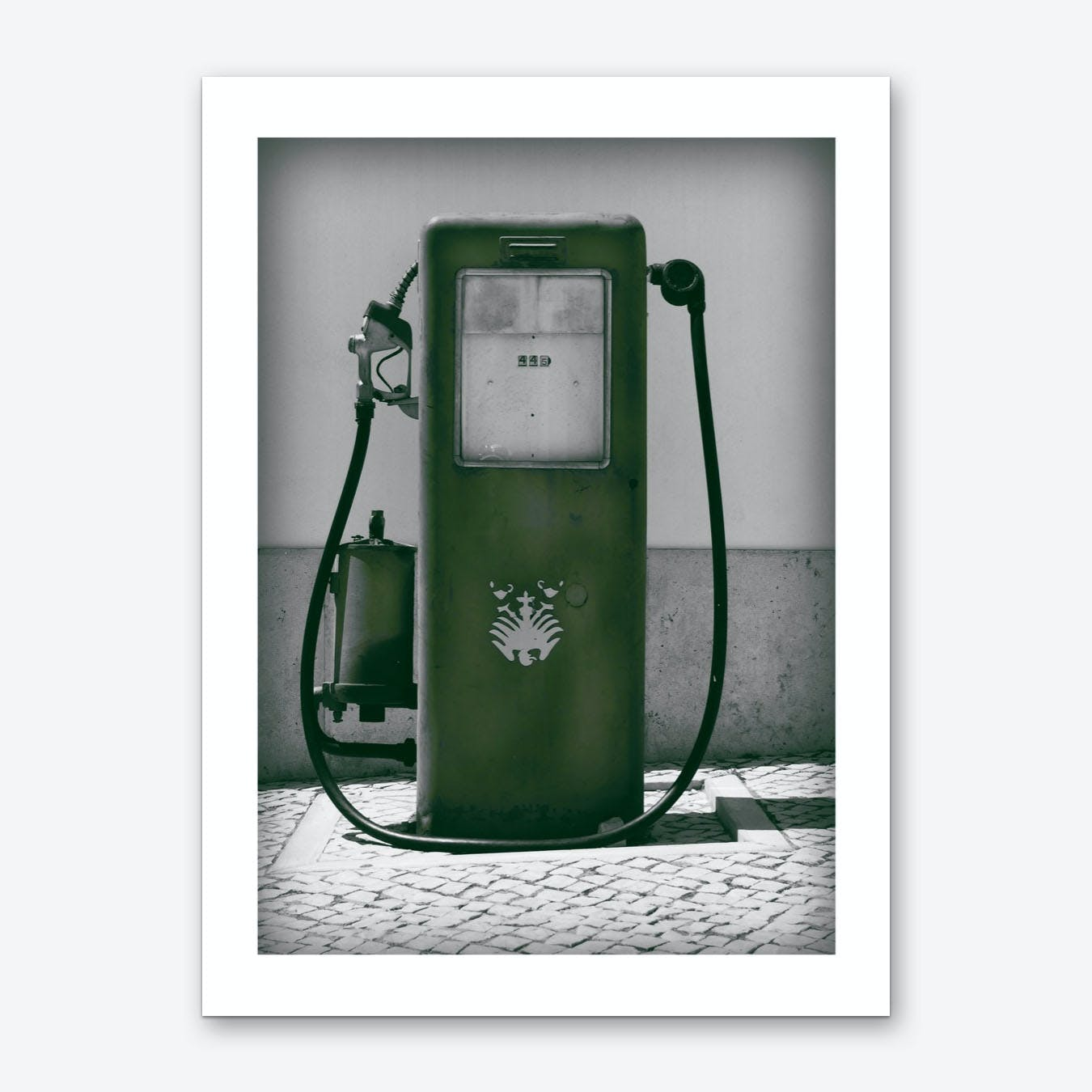 Vintage America Dark Green Gas Pump Art Print