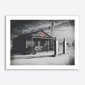 Vintage America Dark Texas Store Art Print