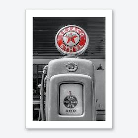 Vintage America Red Texaco Sign Art Print