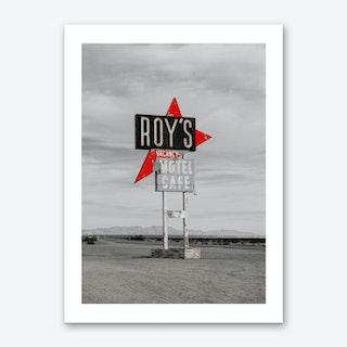 Vintage America Roys Motel Sign Art Print