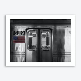 Vintage America Silver Subway Art Print