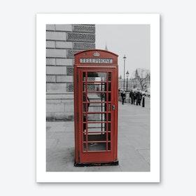 Vintage London Red Phone Box Art Print