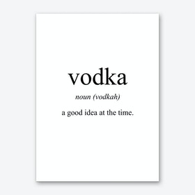 Vodka Meaning Print Art Print
