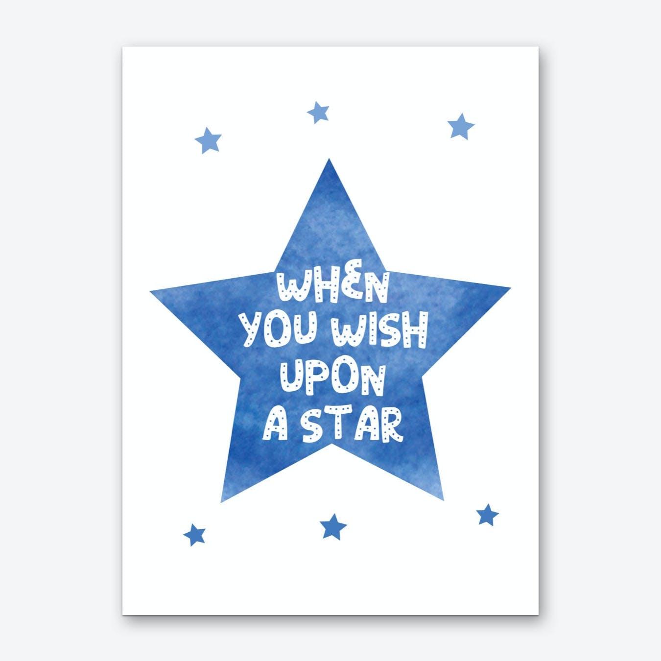 When You Wish Upon A Star Watercolour Art Print