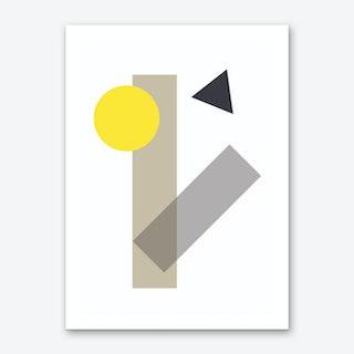 Yellow Geometric Shapes Art Print