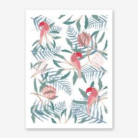 Tucan Jungle Art Print