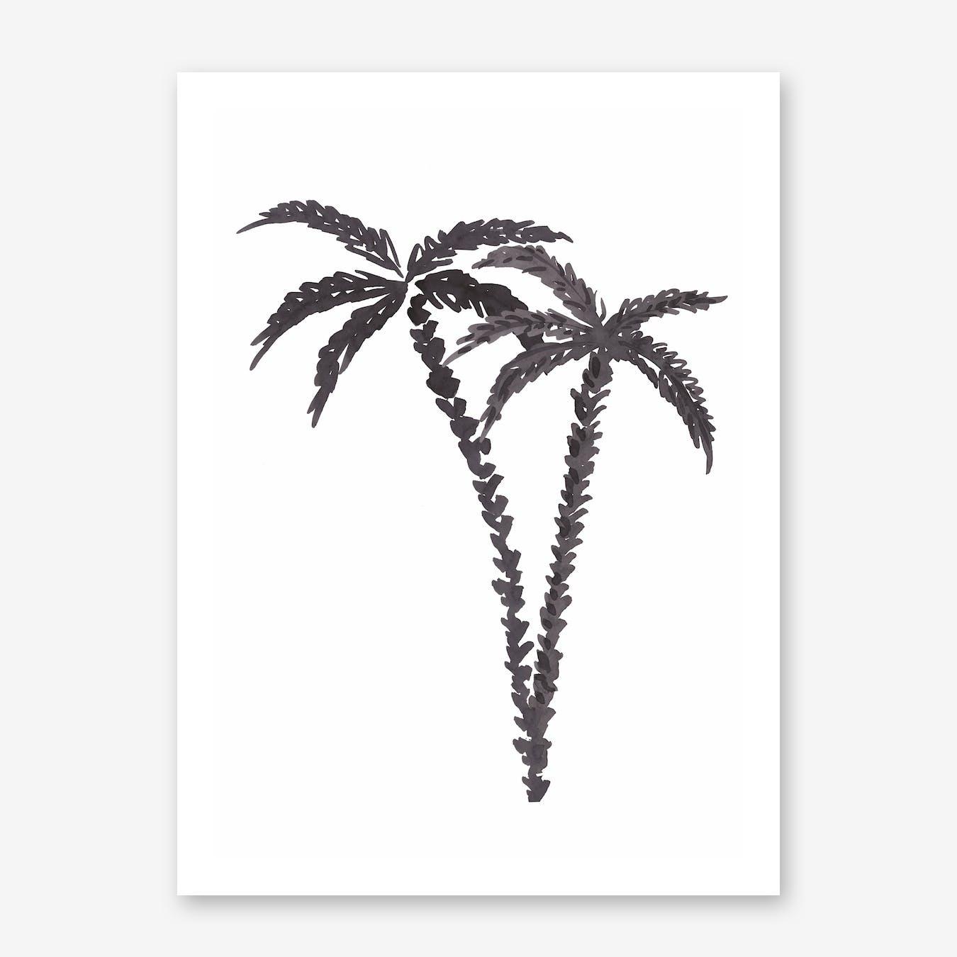Black Palms Print