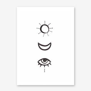 Sun & Moon Art Print