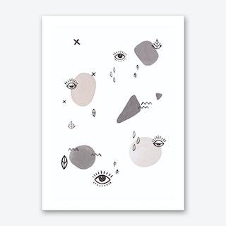 Eyes&dots Art Print