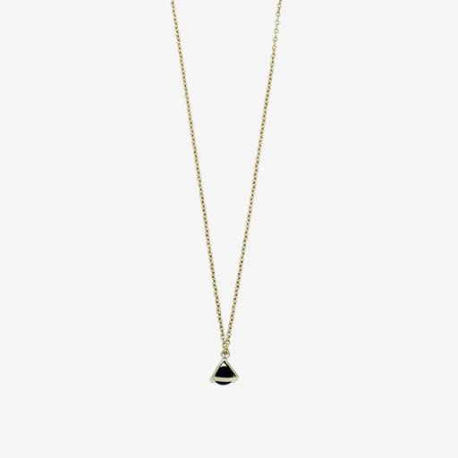 Gold Necklace - Tiny Triangle Charm Pendant