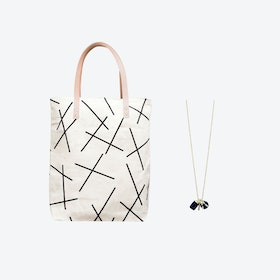 Mikado Bag + Triple Charm Necklace