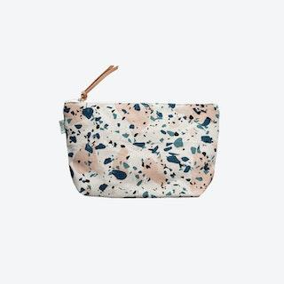 Cosmetic Bag Terrazzo - Blue/Peach II