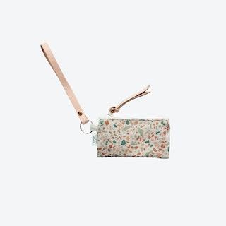 Key Chain + Card Coin Pouch - Terracotta/Green