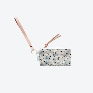 Key Chain + Card Coin Pouch - Blue/Grey I