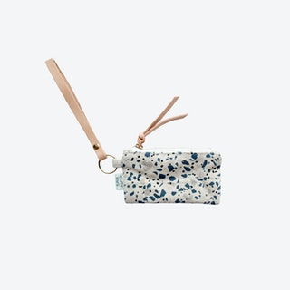 Key Chain + Card Coin Pouch - Blue/Grey II