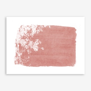 Flowering Tree on Red Art Print
