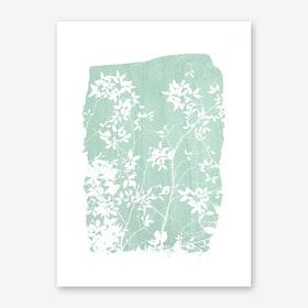 Foliage on Mint Green Art Print
