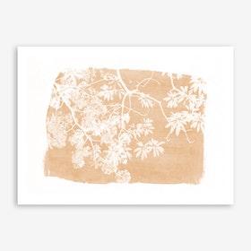 Foliage on Orange Art Print