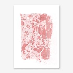 Tree Foliage on Pink II Art Print